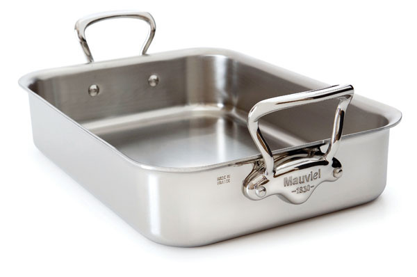 M'cook - 5 Ply S.S. Shallow Rectangular Roasting Pan  with Rack - 13.75""