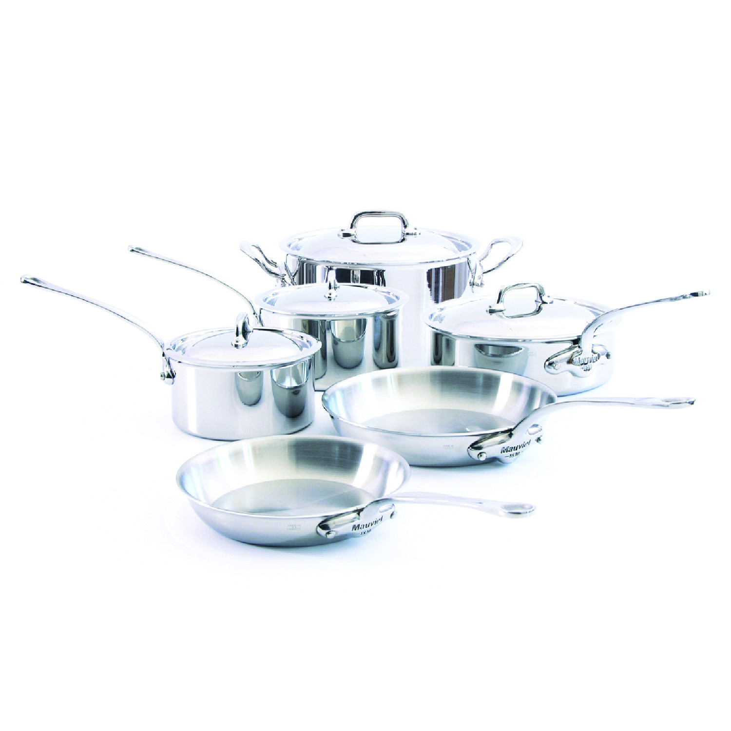 Mauviel M\'cook 5 ply 10 Pc Stainless Steel Set