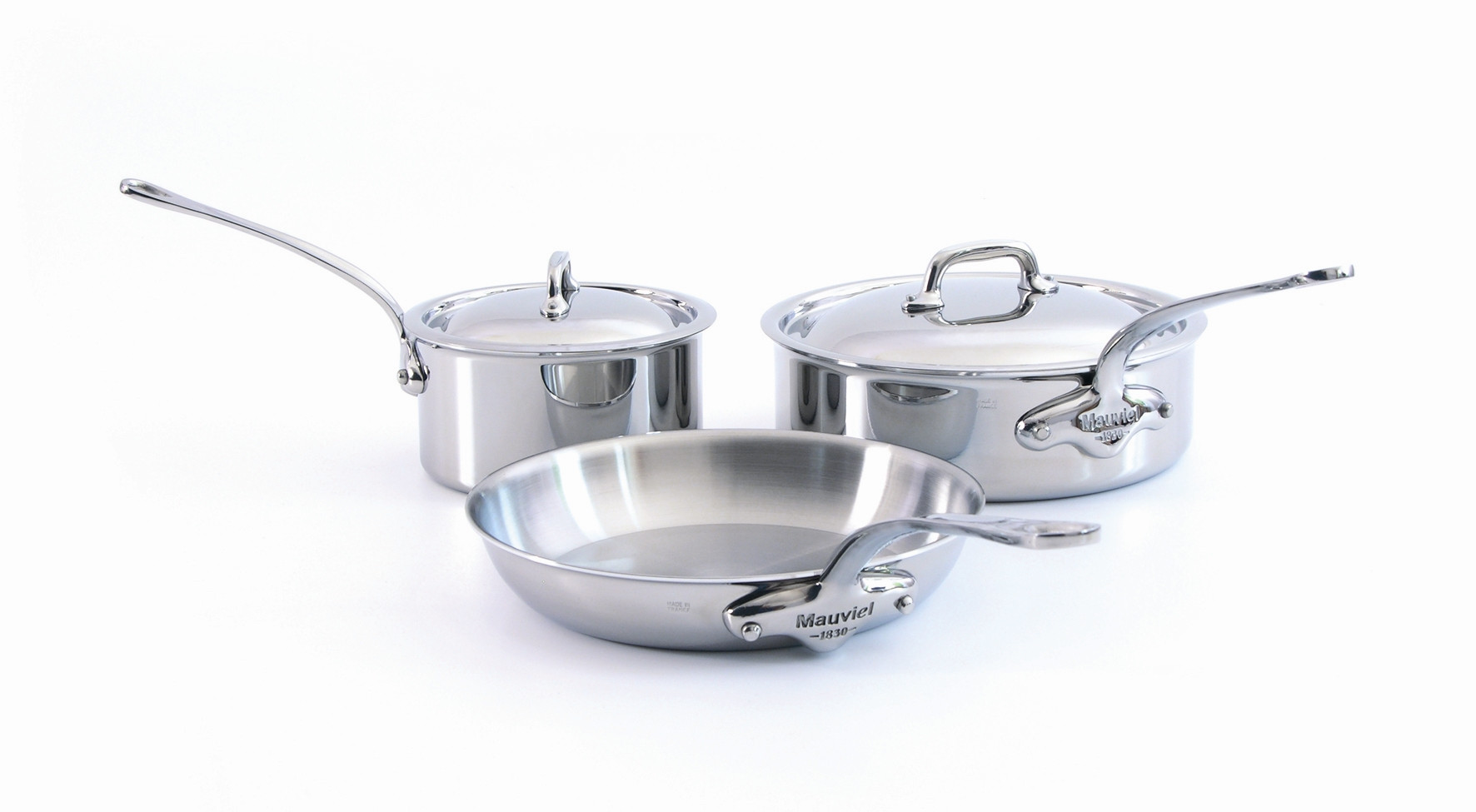 Mauviel M\'cook 5 ply 5 Pc stainless Steel Set
