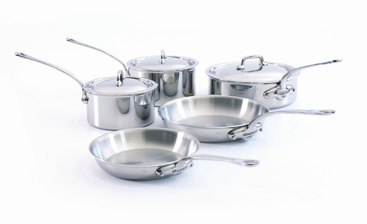 Mauviel M'cook 5 ply 8 Pc Stainless Steel Set