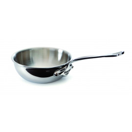 5 Ply S.S. Curved splayed saute pan