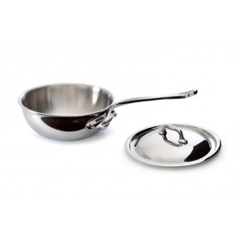 5 Ply S.S. Curved splayed Saute Pan includes Lid