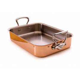 M'150s - Tri ply Roasting pan with Rack  2.5mm.