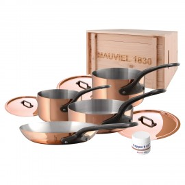Mauviel M'250C- 7pc. Copper Set - S.S. Interior - Professional Series 2.5mm - Cast Iron Handles