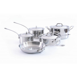 Mauviel M'cook 5 ply 9 Pc Stainless Steel Set