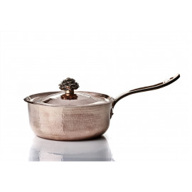 "Saute Pan with long handle - 11"" w Flower Handle Lid"